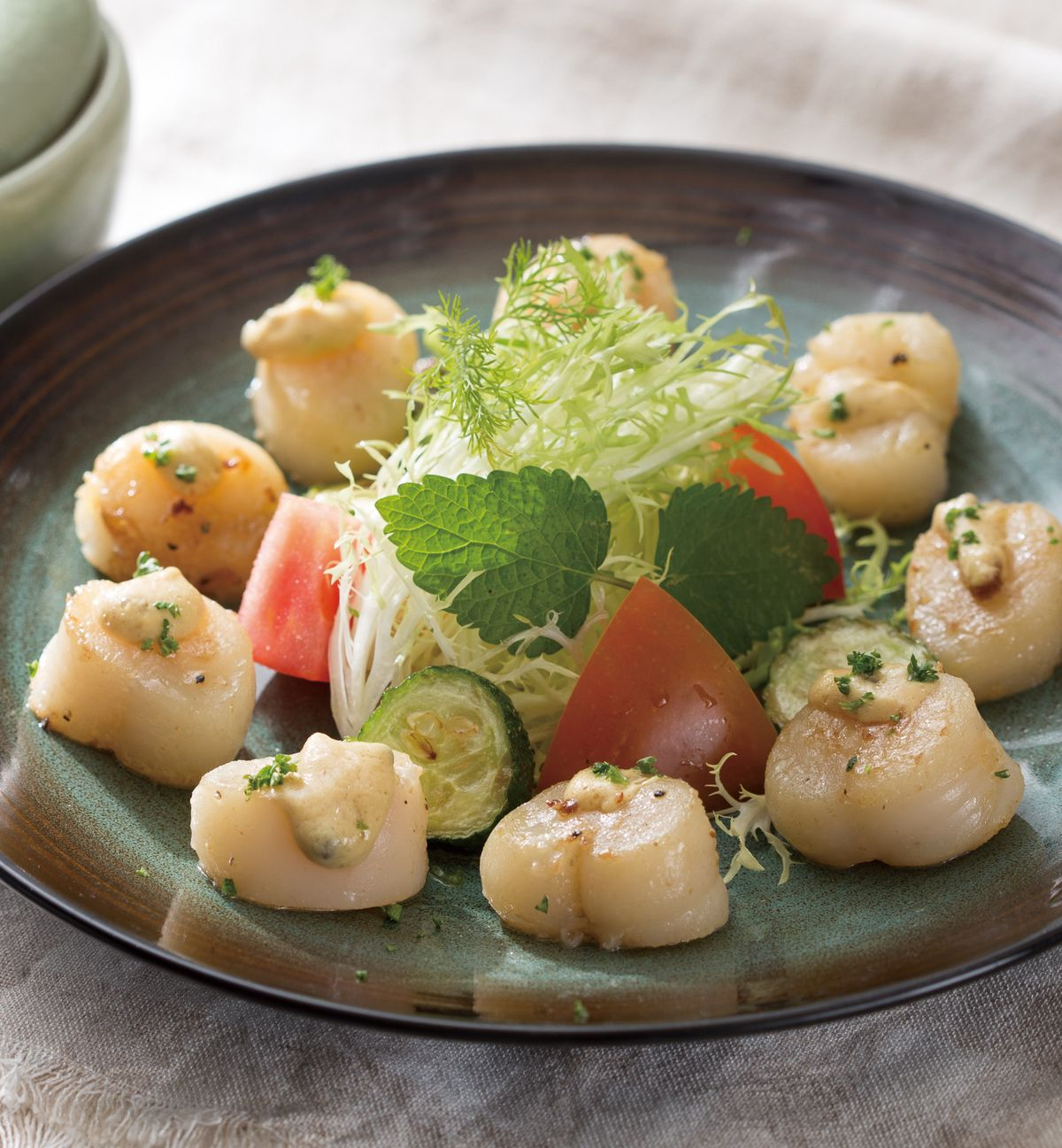 食譜:芥末籽干貝沙拉
