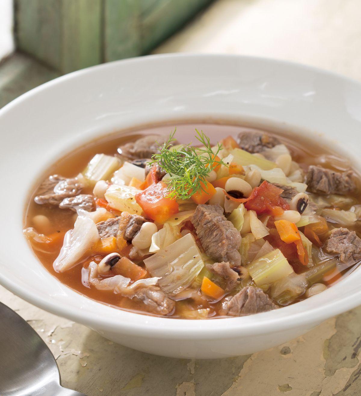 食譜:米豆茄汁牛肉湯