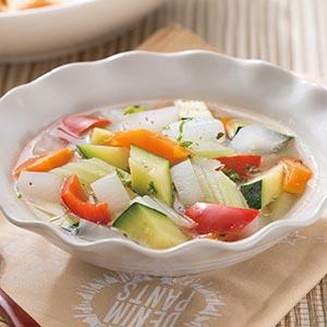 櫛瓜時蔬湯