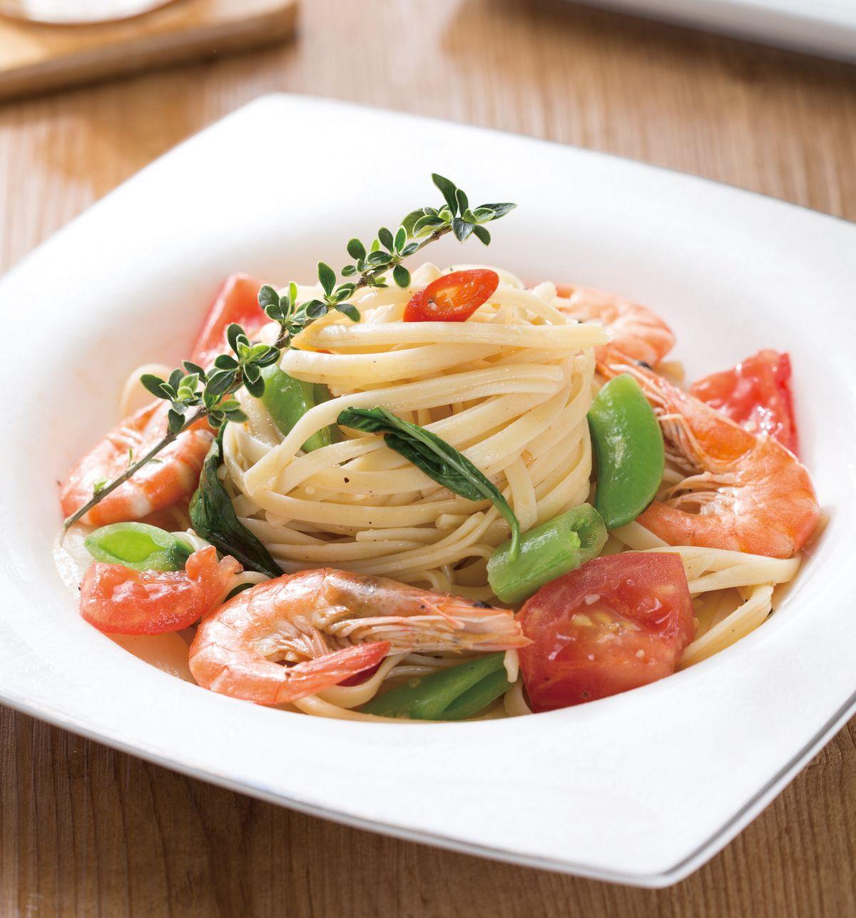 食譜:鮮蝦義大利麵
