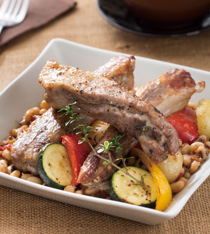 食譜:茄汁白豆烤豬肋排