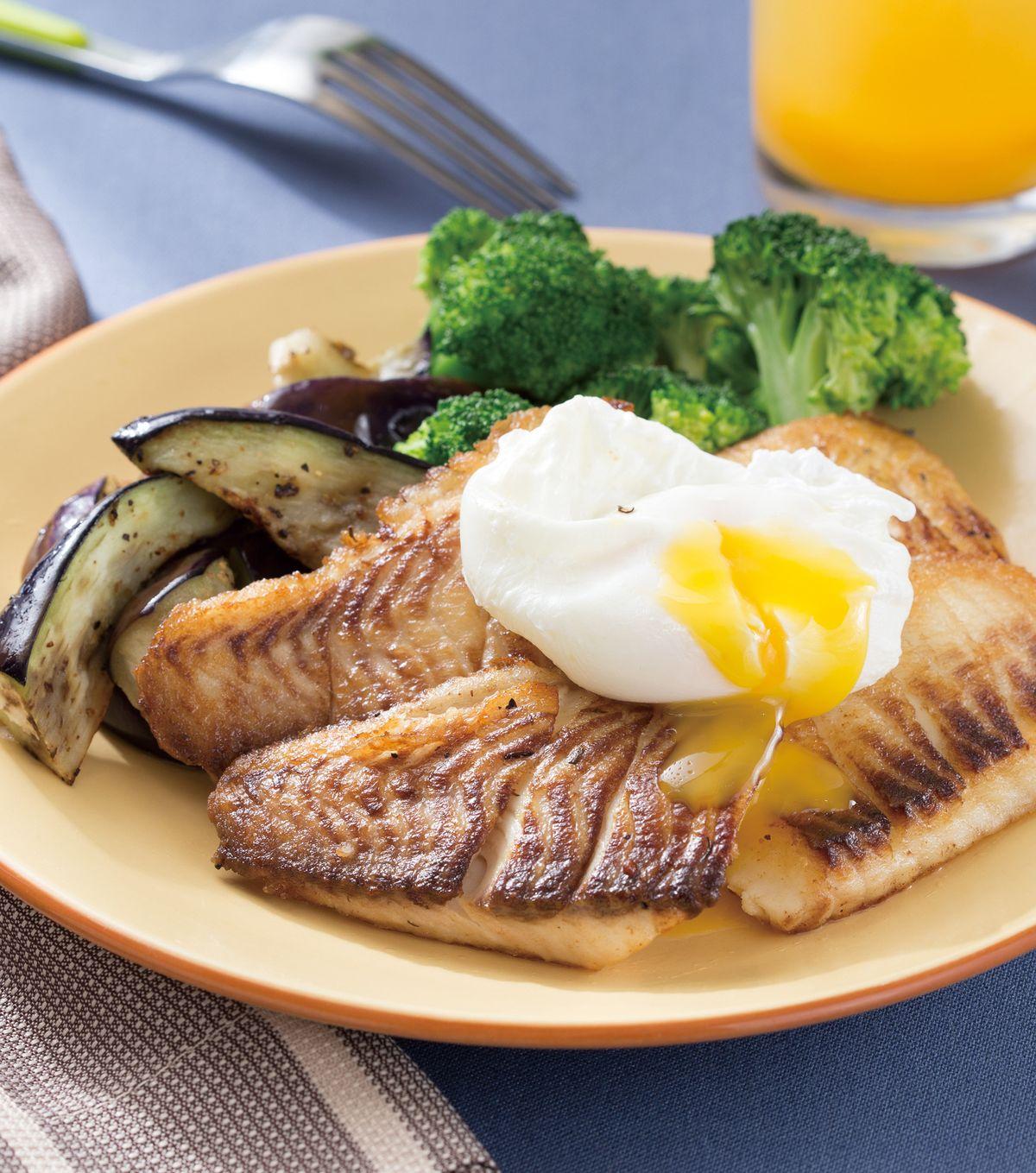 食譜:水波蛋煎魚排