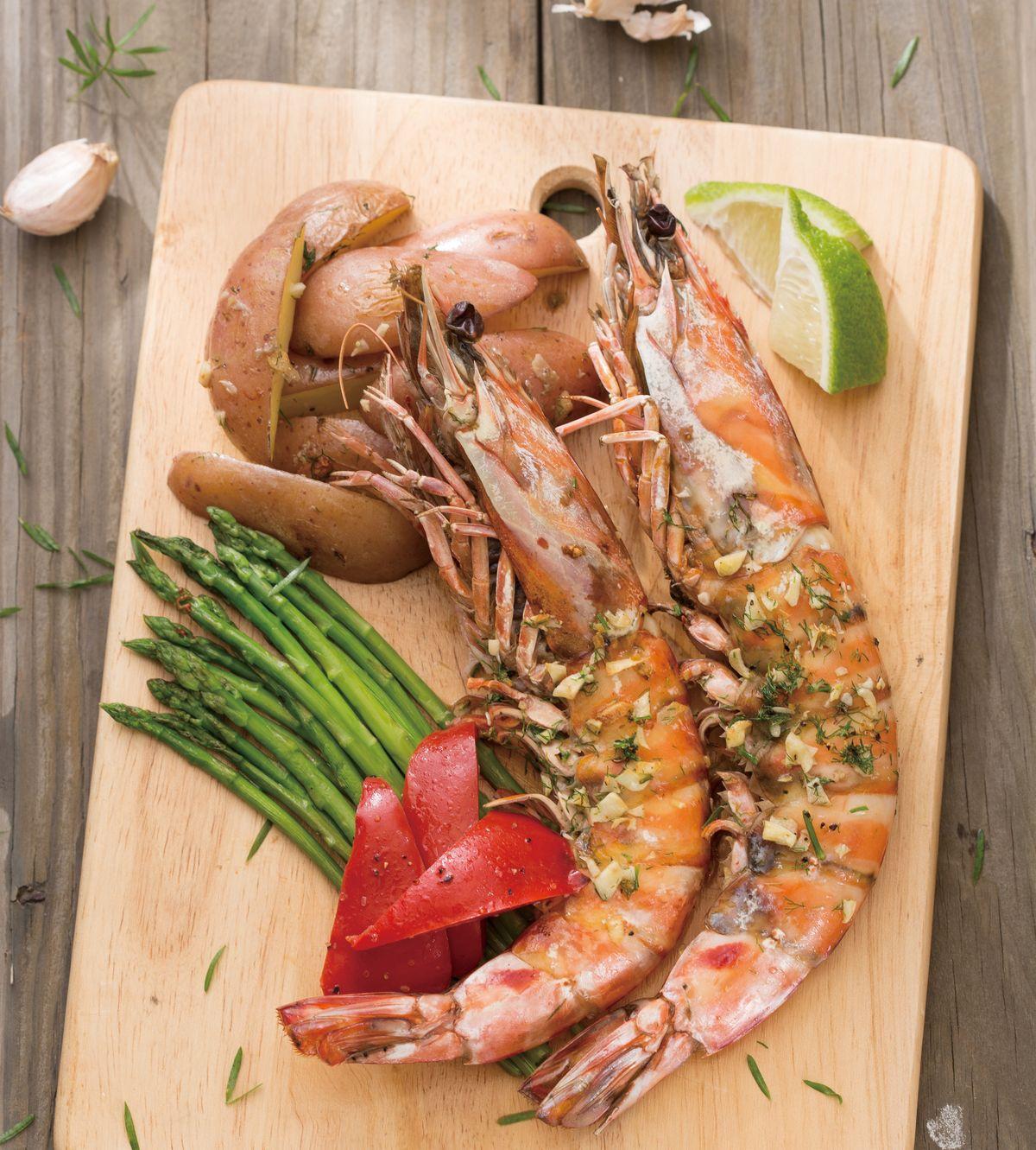 食譜:蒜香烤大蝦