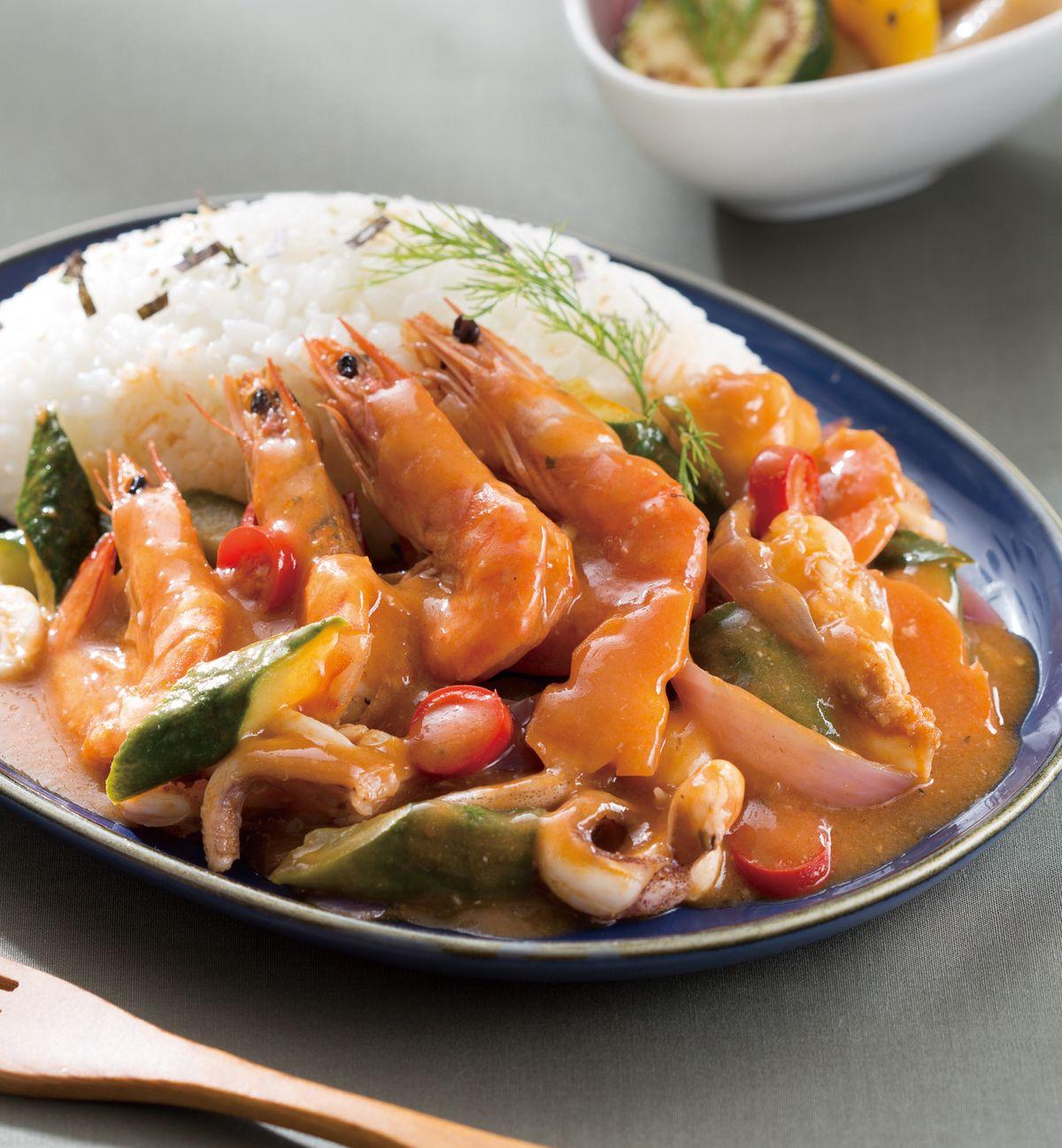 食譜:紅醬海鮮燴飯