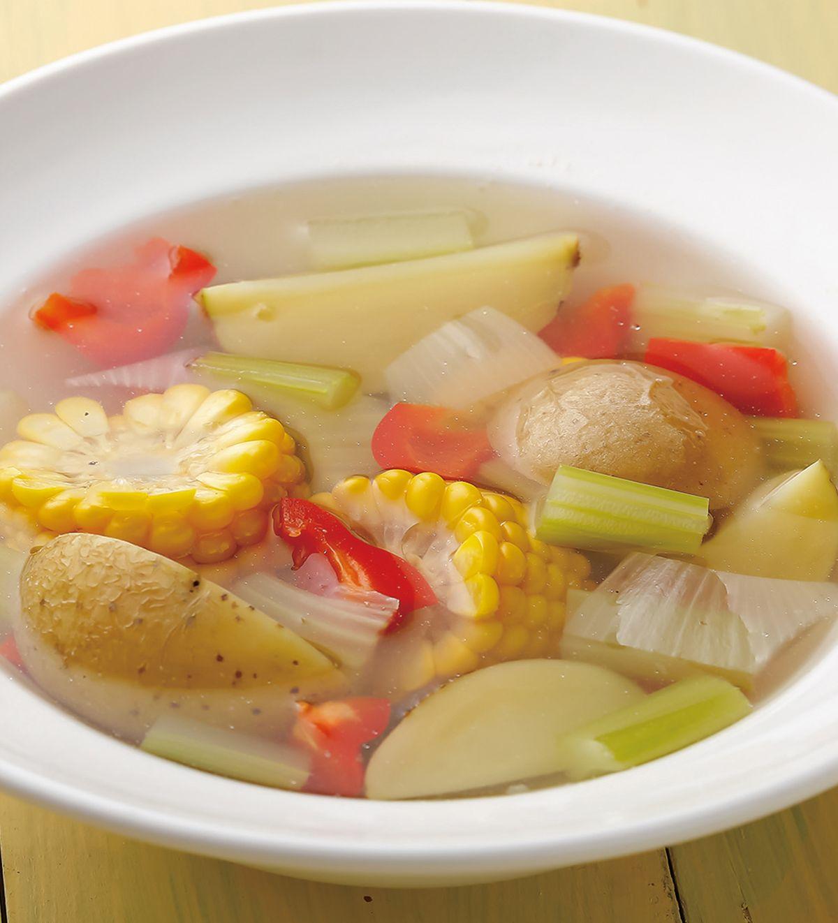 食譜:雞汁鮮蔬鍋