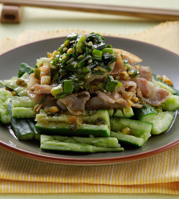 食譜:燒肉片佐韭菜醬