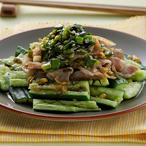 燒肉片佐韭菜醬