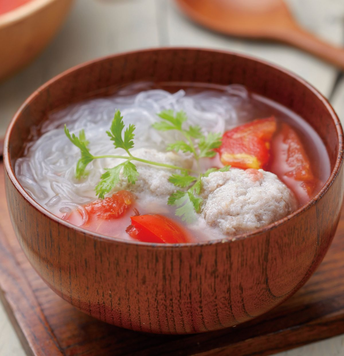 食譜:番茄春雨丸子湯