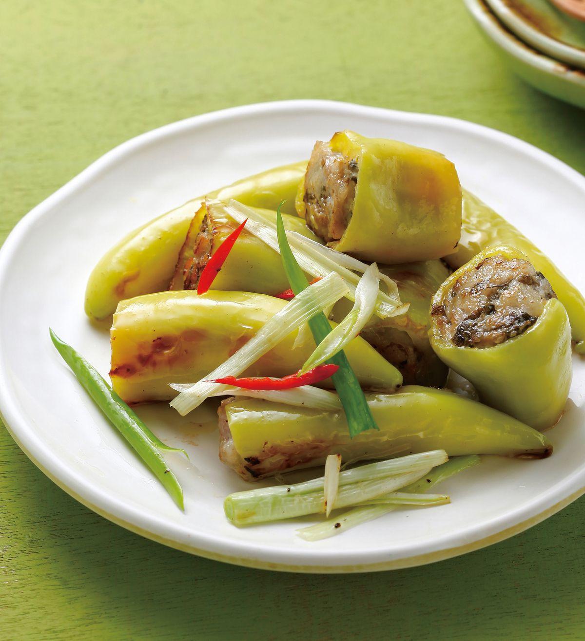 食譜:翡翠椒鑲肉