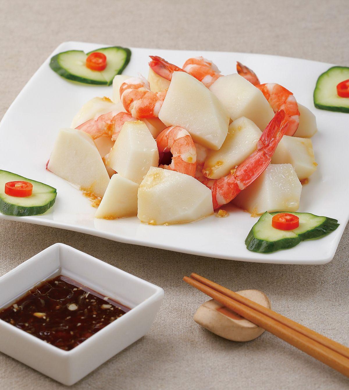食譜:鮮蝦拌春筍