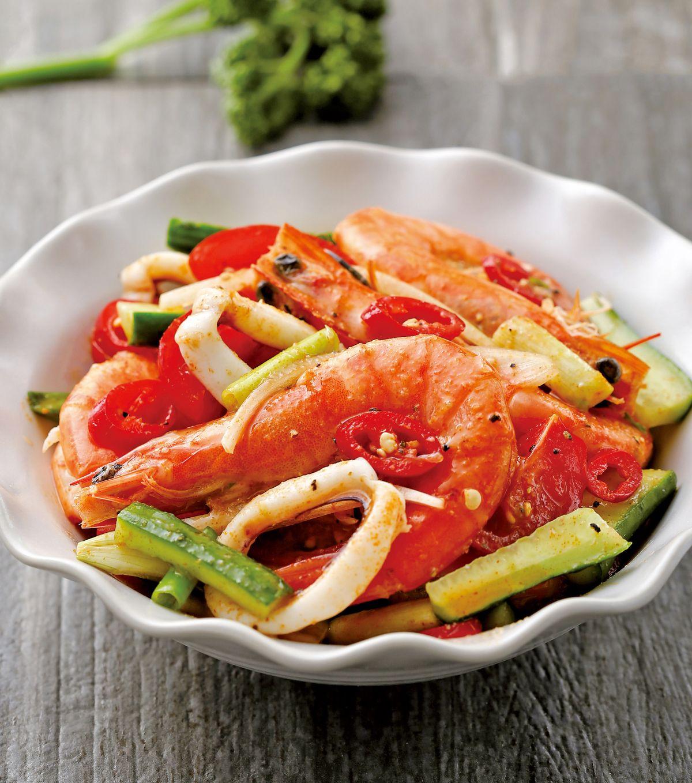 食譜:南洋酸辣拌海鮮