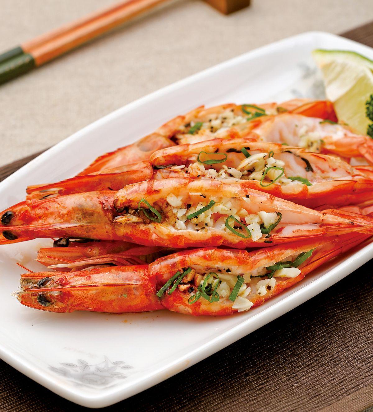 食譜:蒜蓉蒸鮮蝦