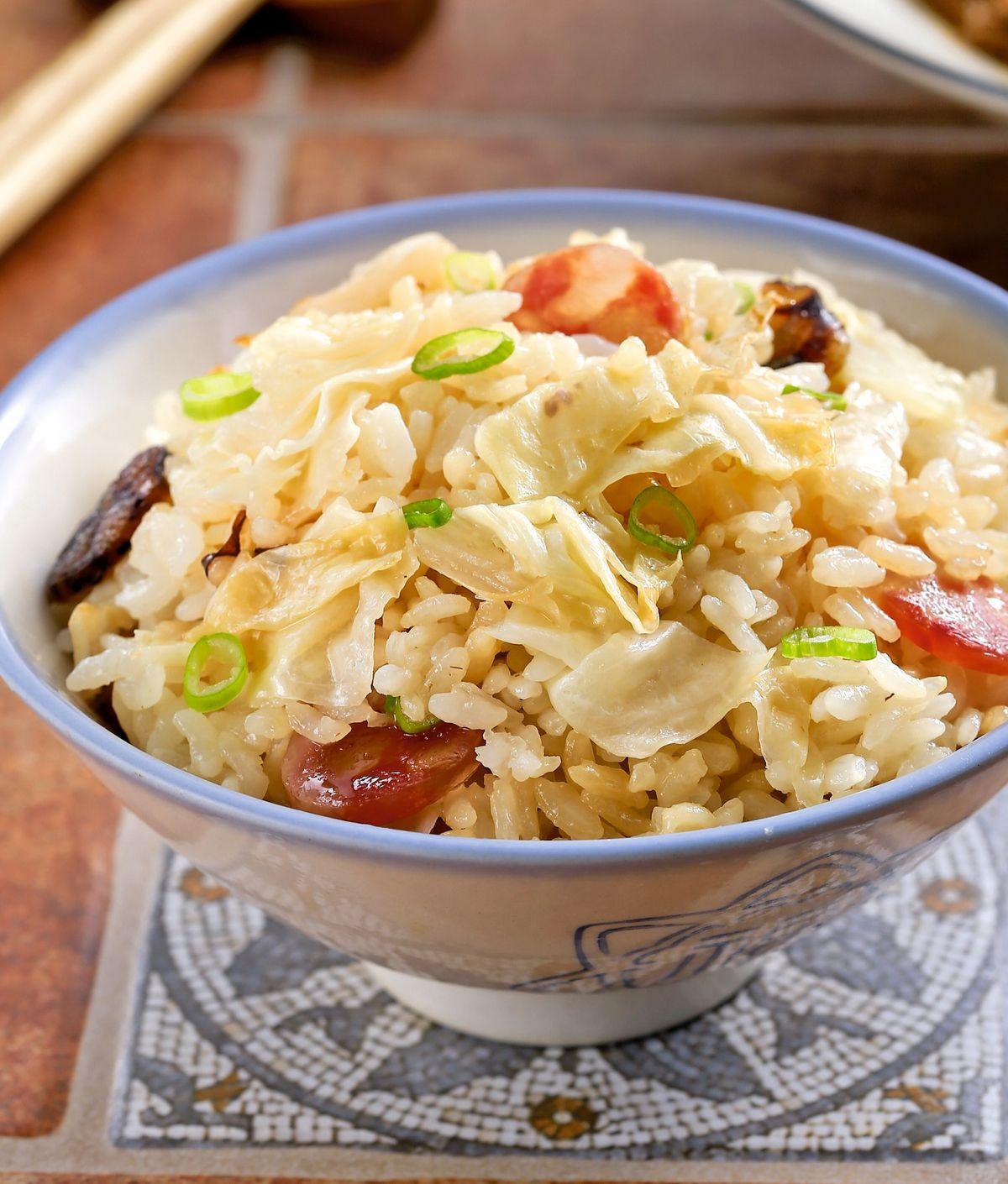 食譜:臘腸高麗菜飯