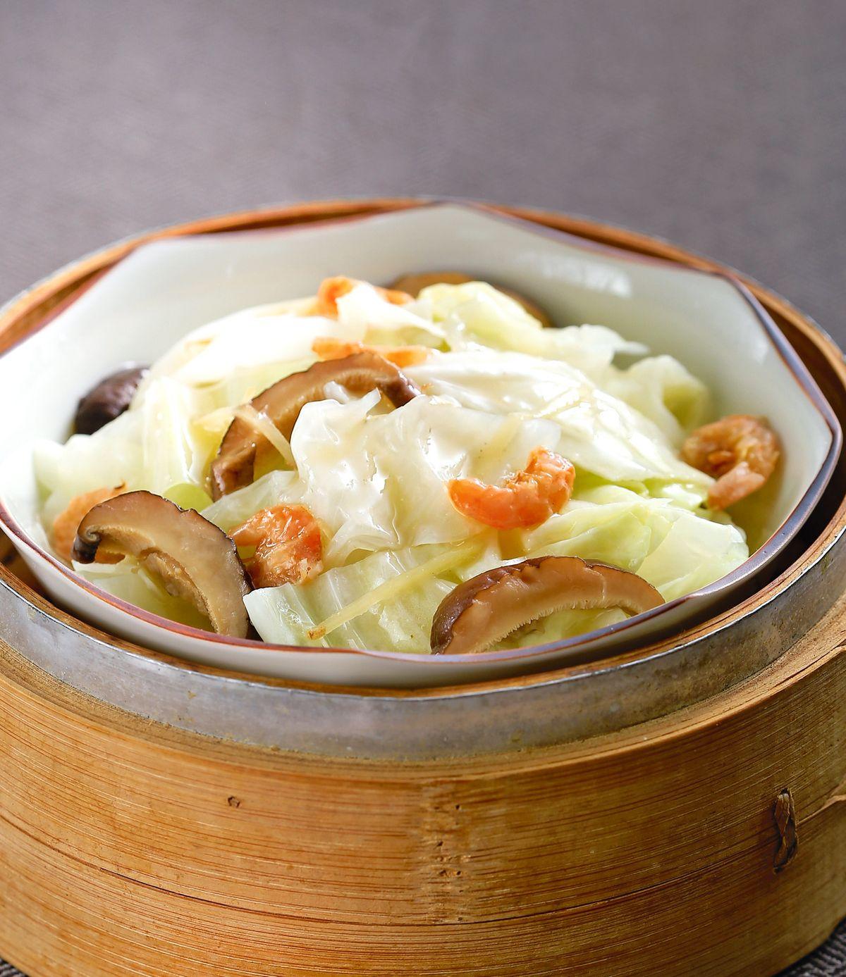 食譜:開陽蒸高麗菜
