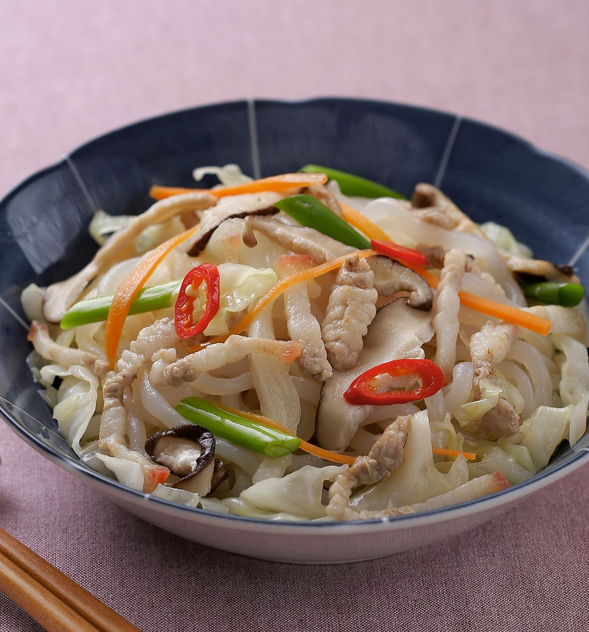食譜:肉絲蒟蒻炒麵
