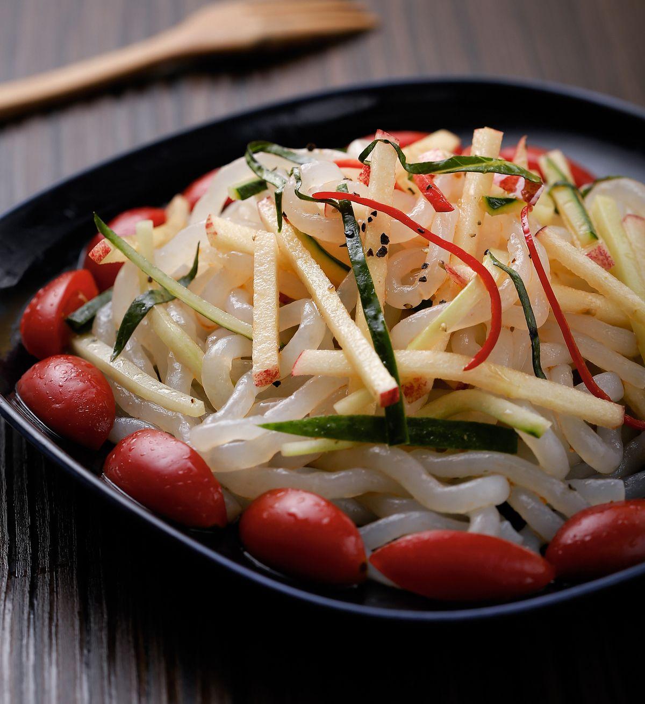 食譜:蘋果涼拌蒟蒻麵