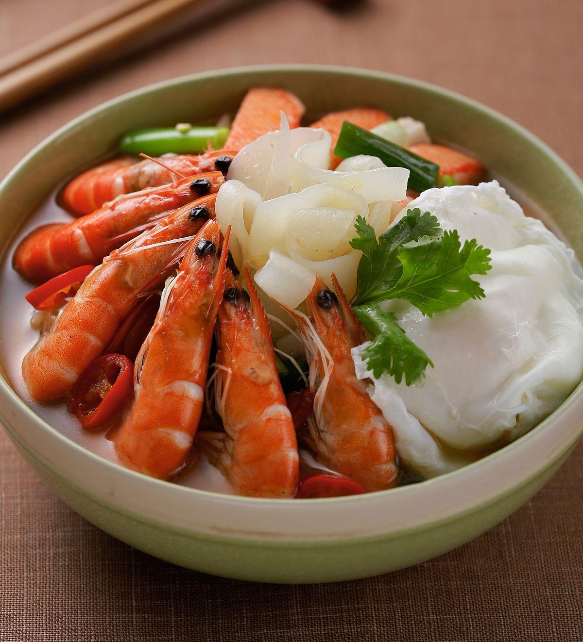 食譜:海鮮蒟蒻湯麵
