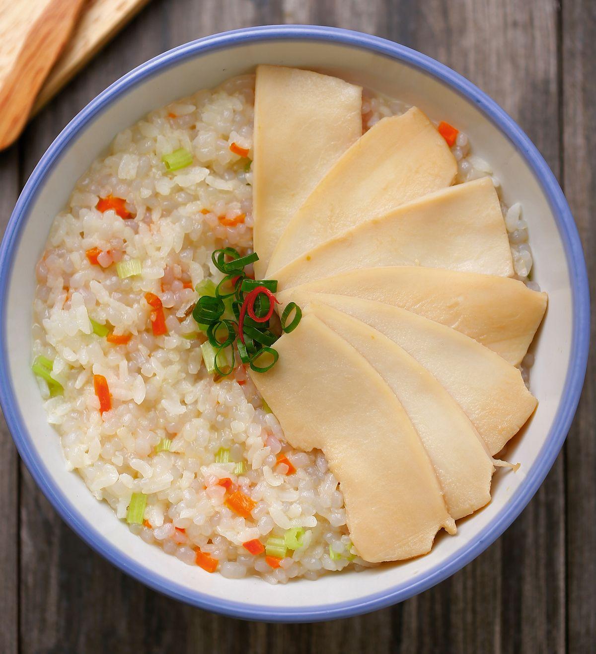 食譜:鮑魚蒟蒻鮮蔬粥
