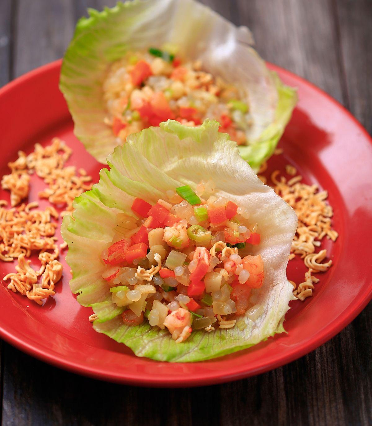 食譜:蒟蒻米炒蝦鬆