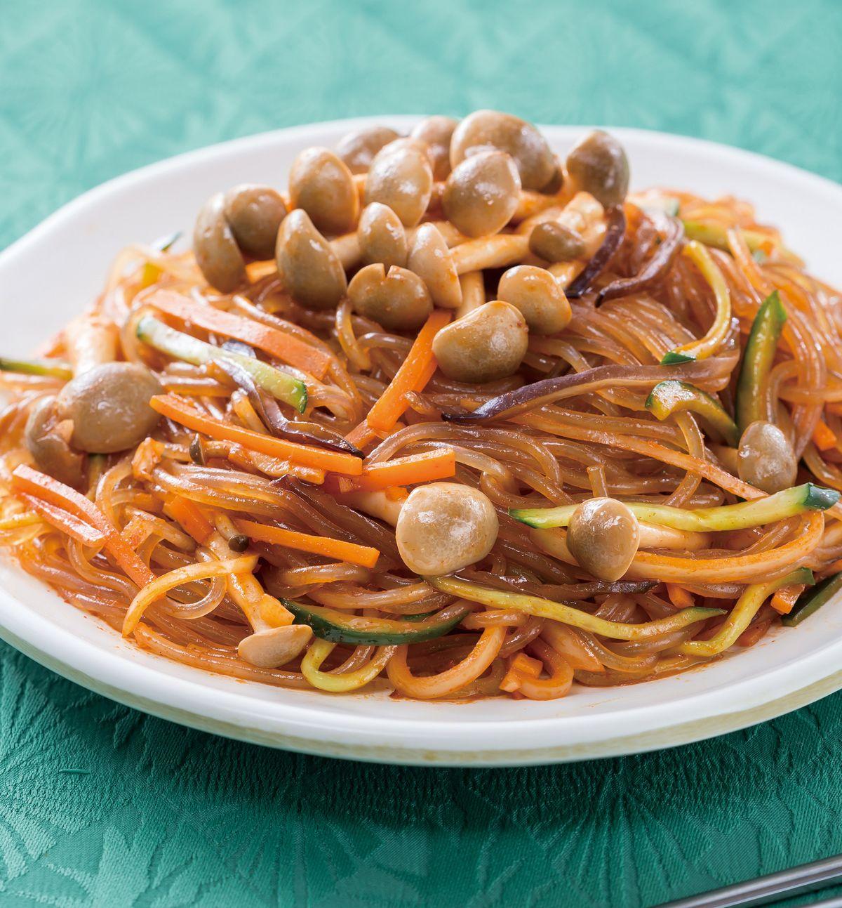 食譜:韓式醬拌鴻喜粉絲