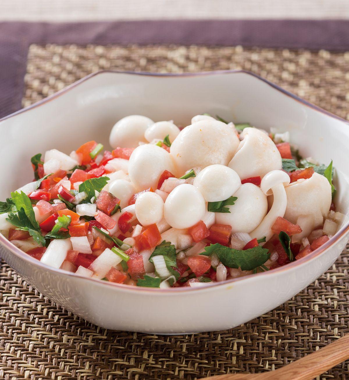 食譜:莎莎醬拌白靈菇