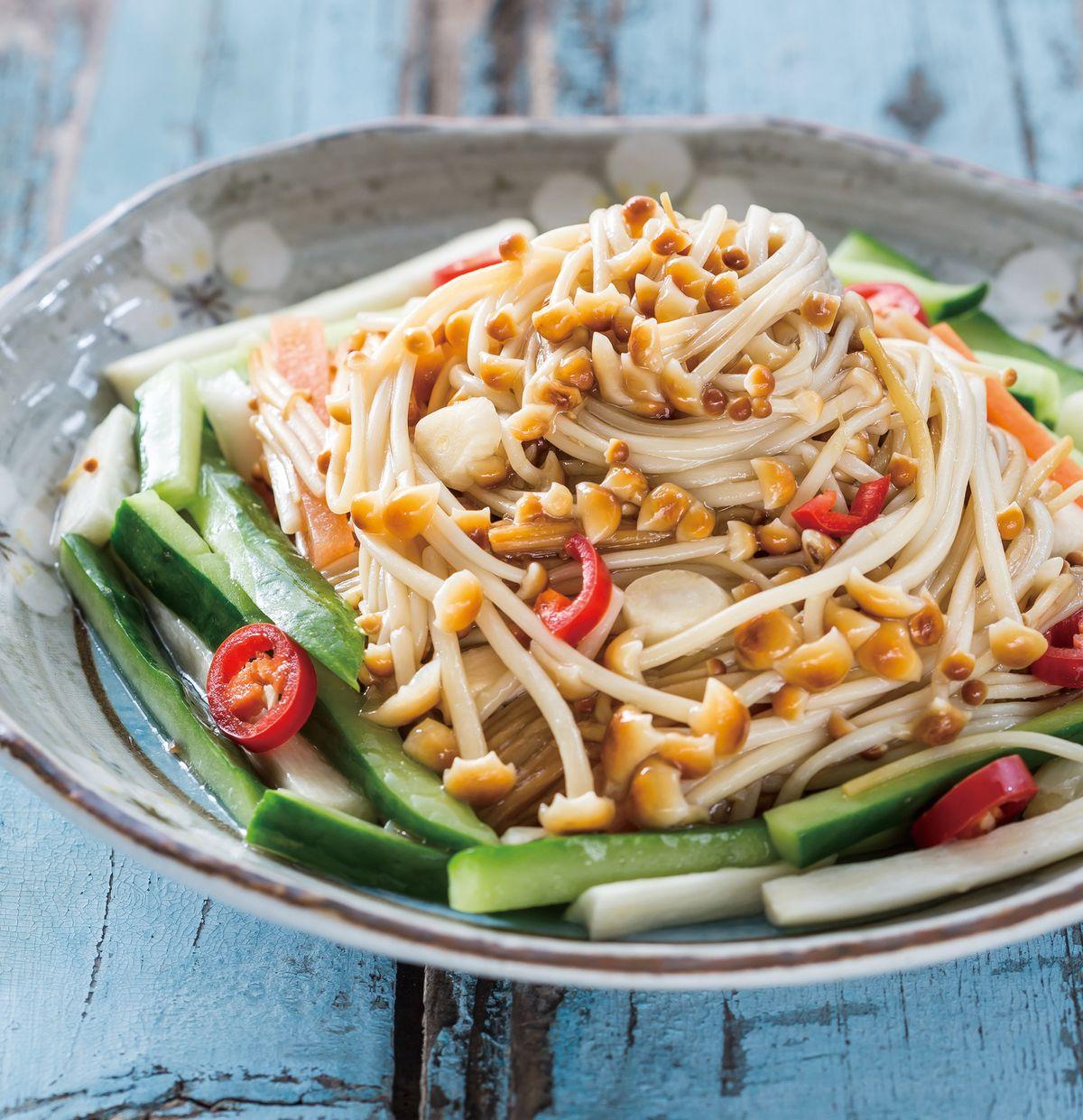 食譜:黃瓜茭筍拌華翠菇