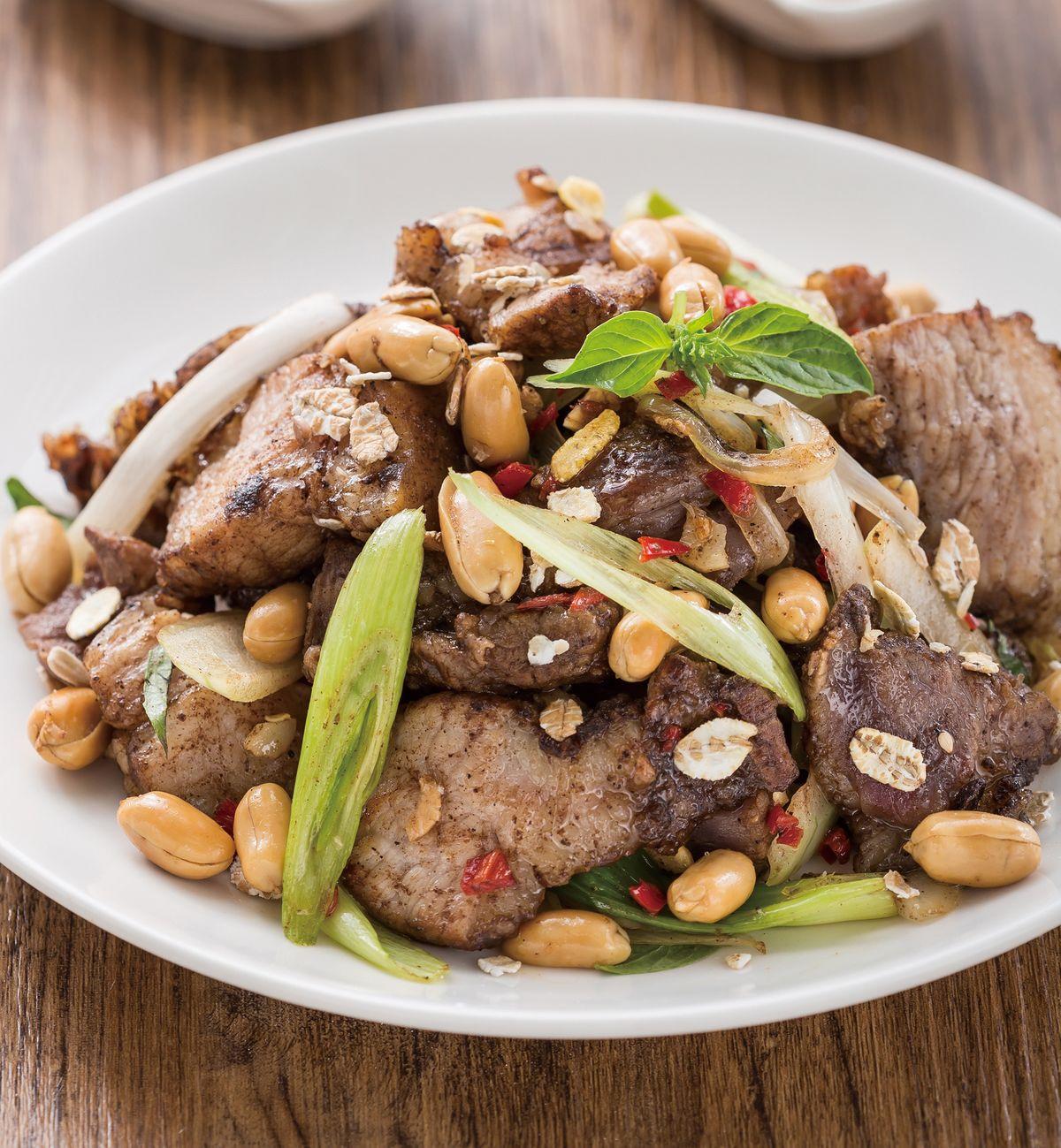 食譜:麥片花生鹹豬肉