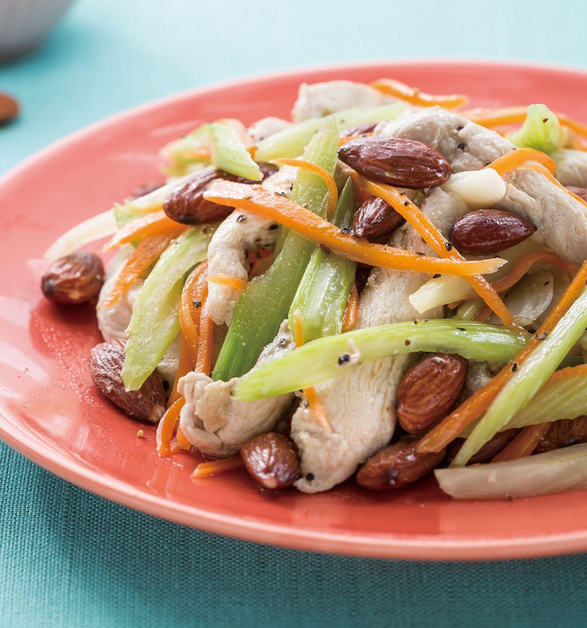 食譜:杏仁粒炒西芹雞條