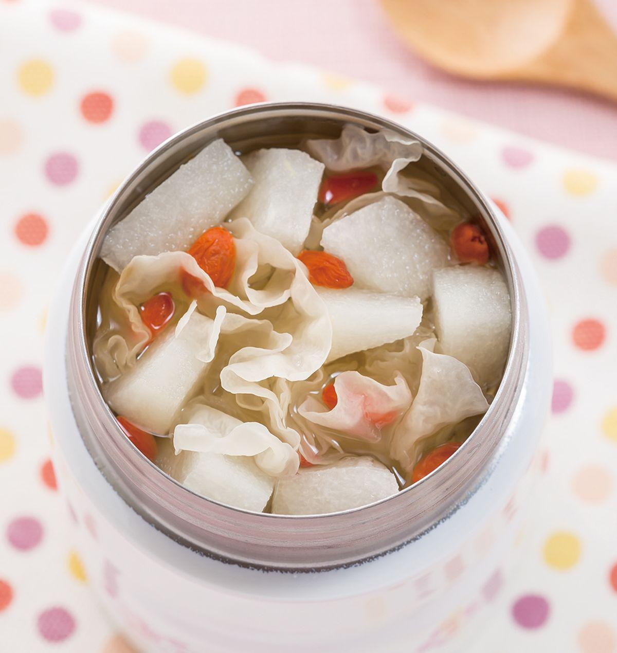 食譜:雪梨銀耳甜湯