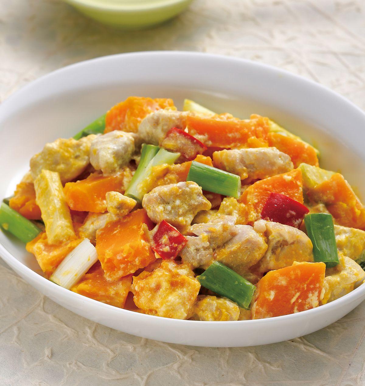 食譜:奶油南瓜蒸雞