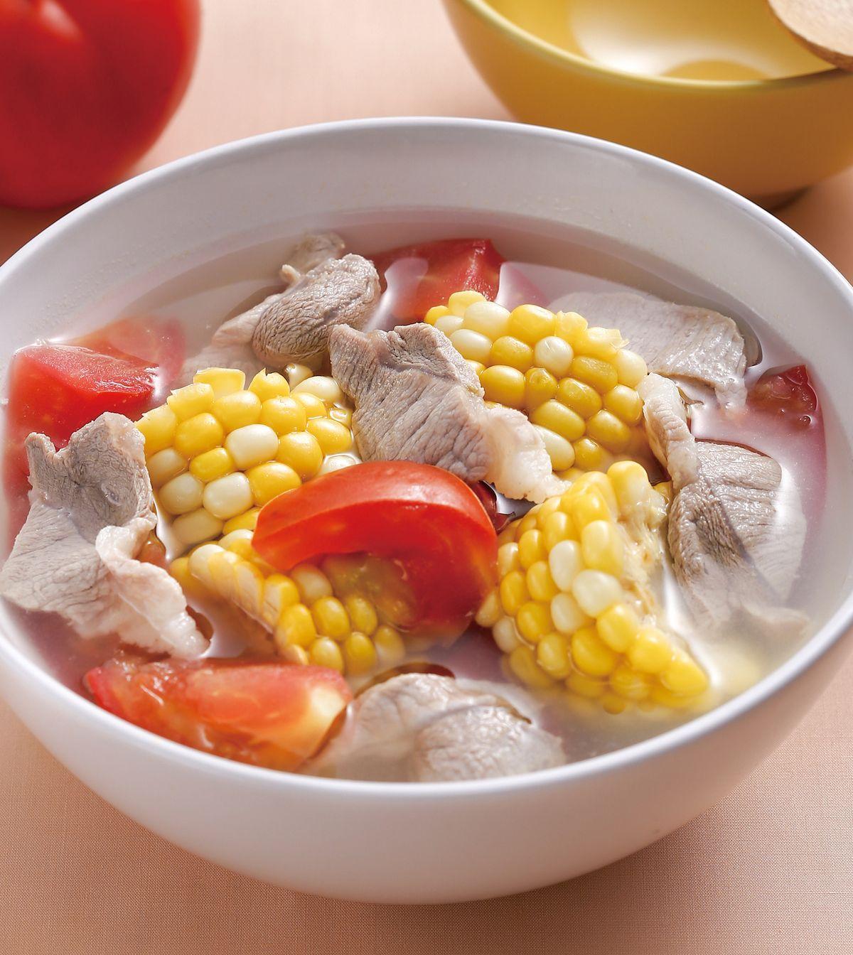 食譜:番茄玉米排骨湯
