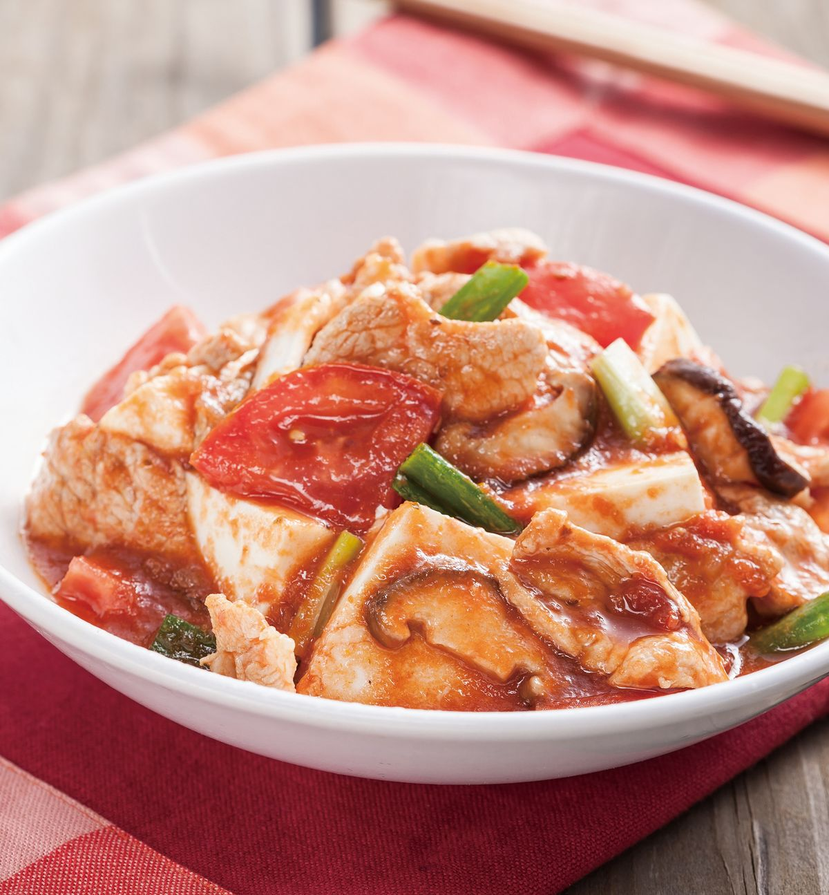 食譜:番茄豆腐肉片