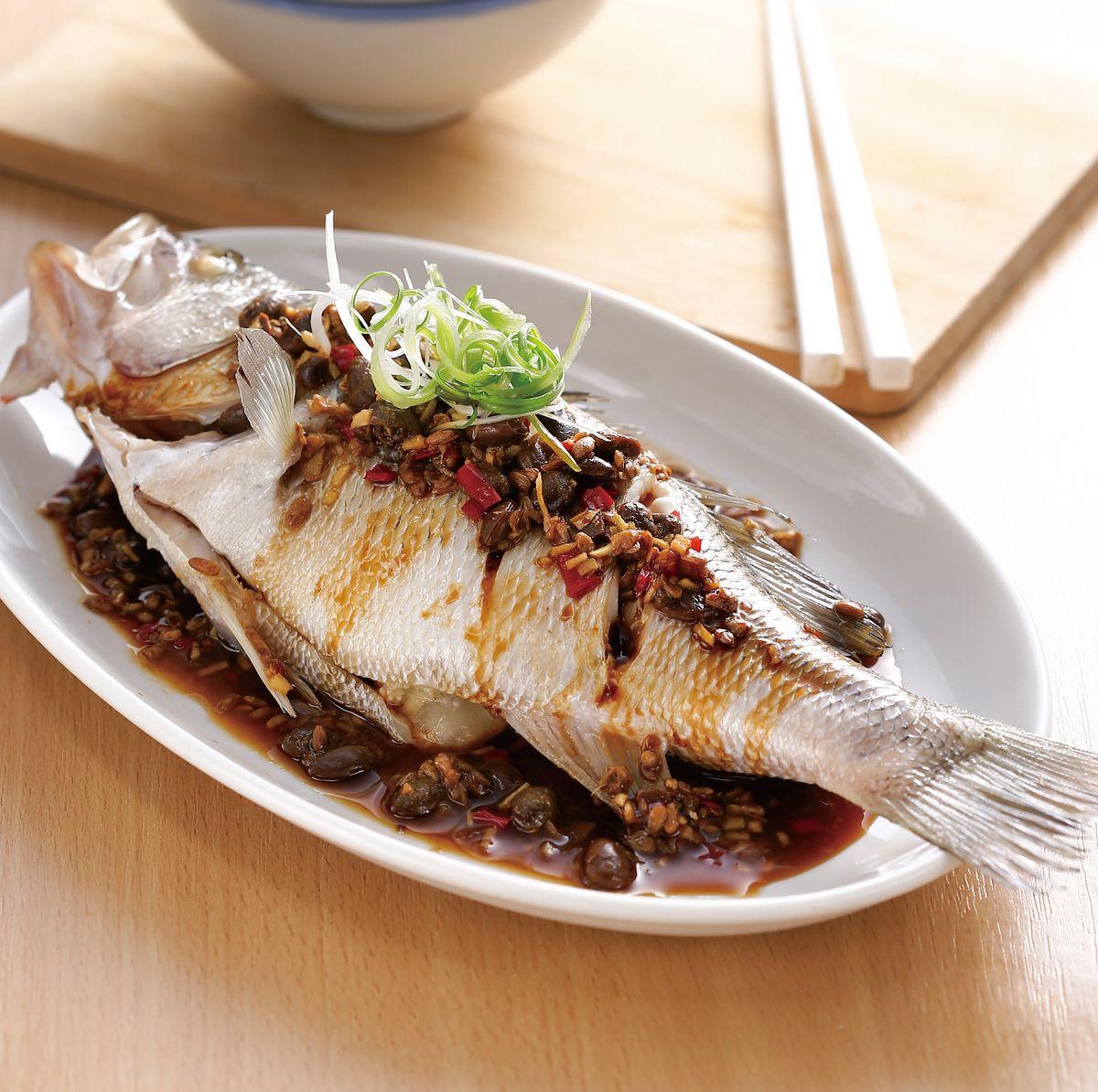 食譜:豆醬鱸魚