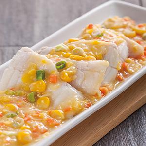 玉米醬蒸魚片