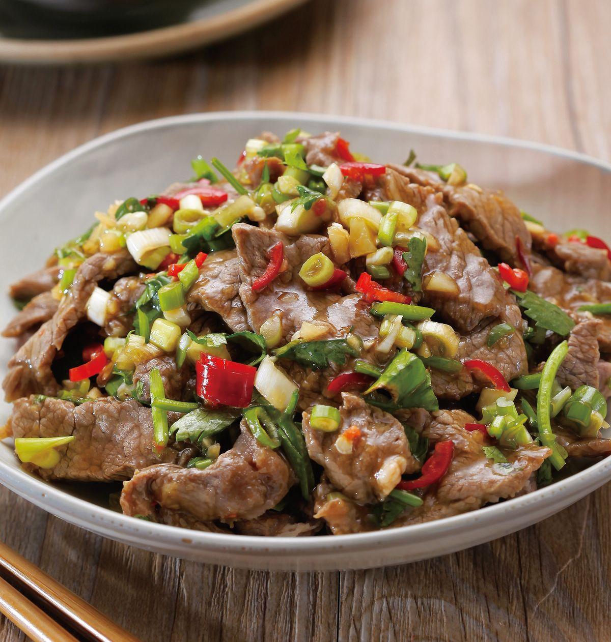 食譜:香菜白灼牛肉