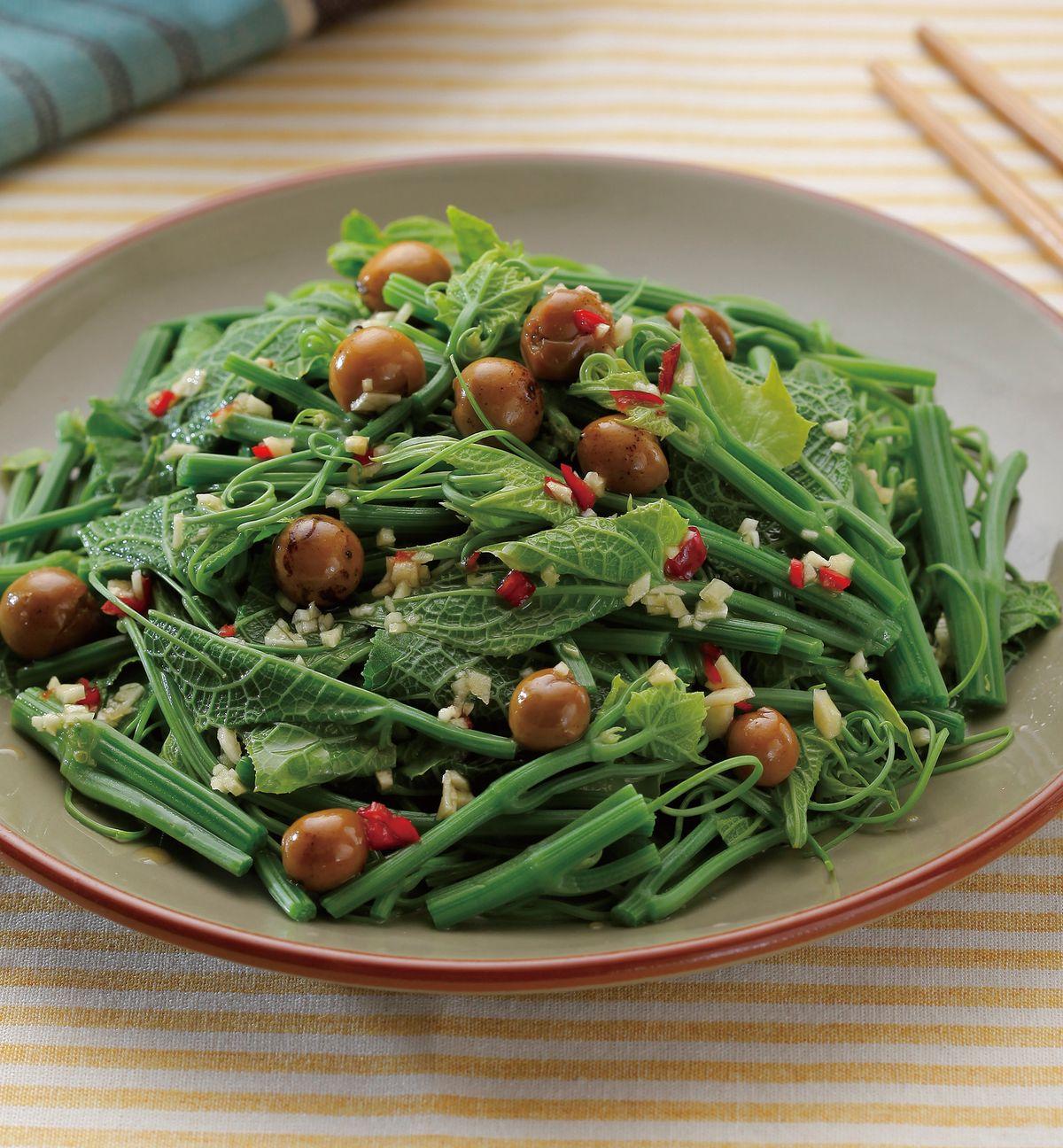 食譜:破布子龍鬚菜(1)