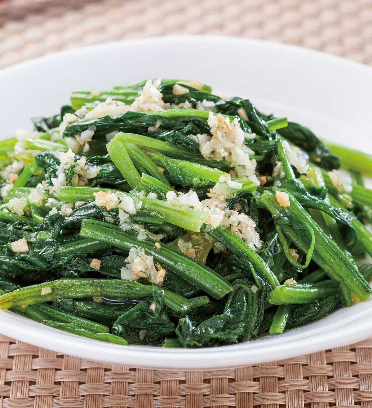 食譜:蒜香拌菠菜
