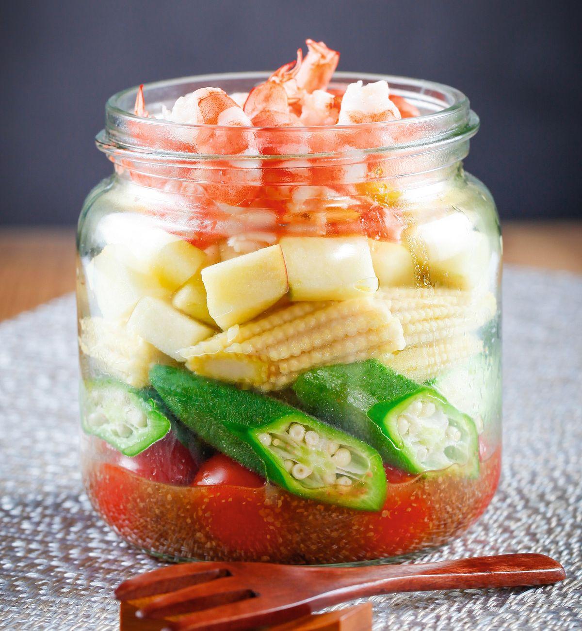 食譜:和風蘋果鮮蝦沙拉