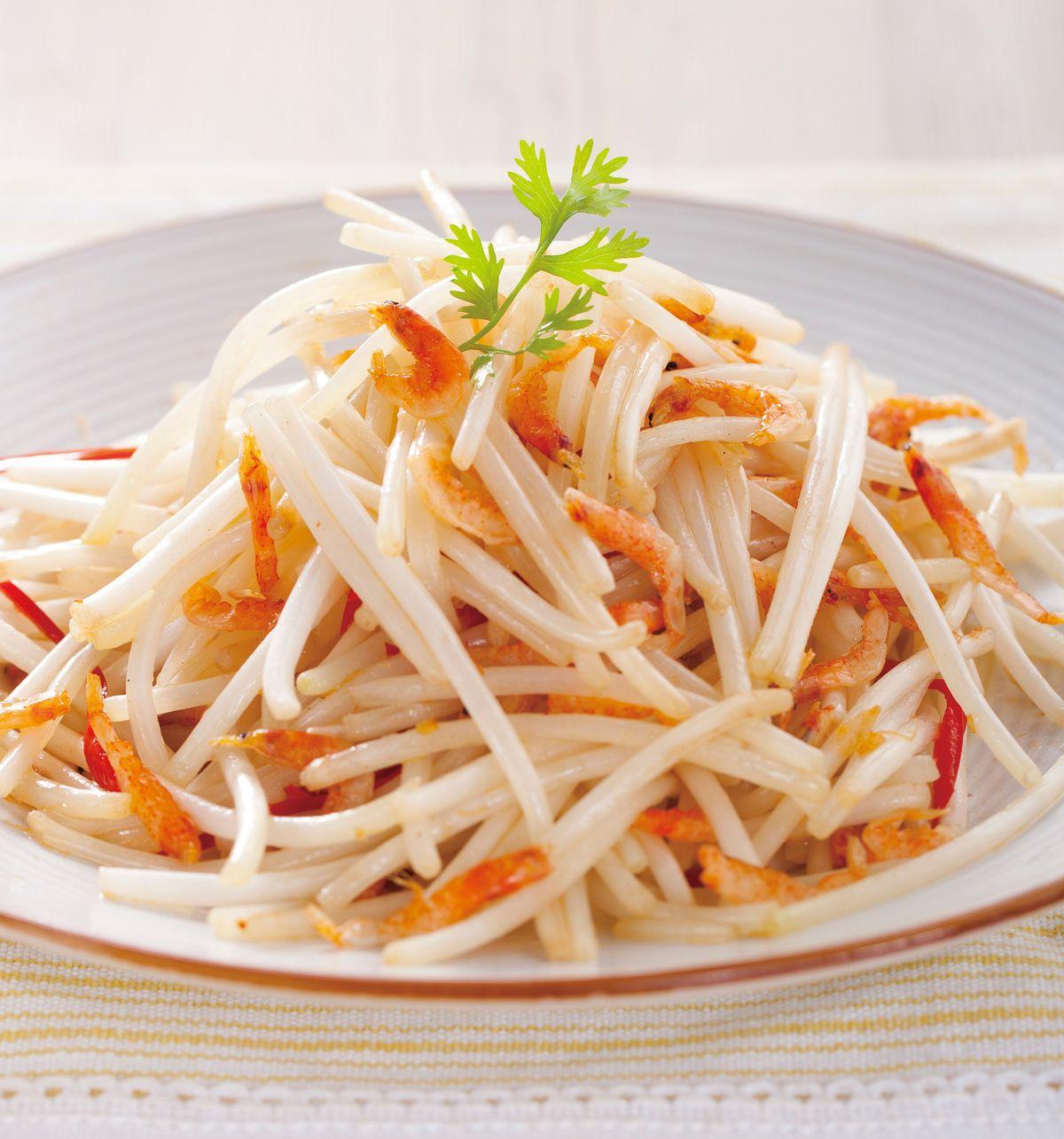 食譜:櫻花蝦炒銀芽
