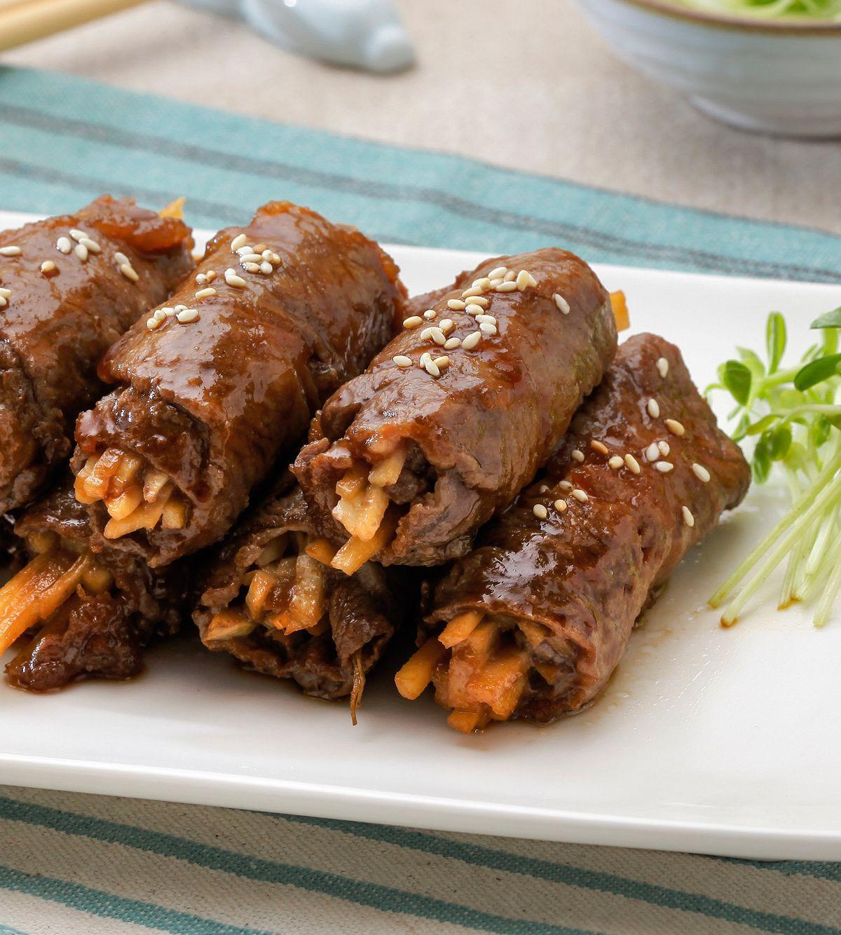 食譜:鮮筍牛肉捲