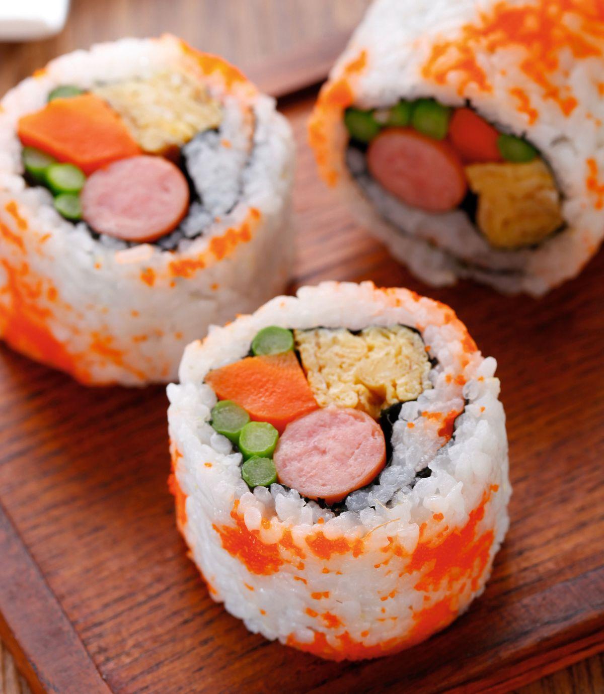 食譜:繽紛壽司(1)