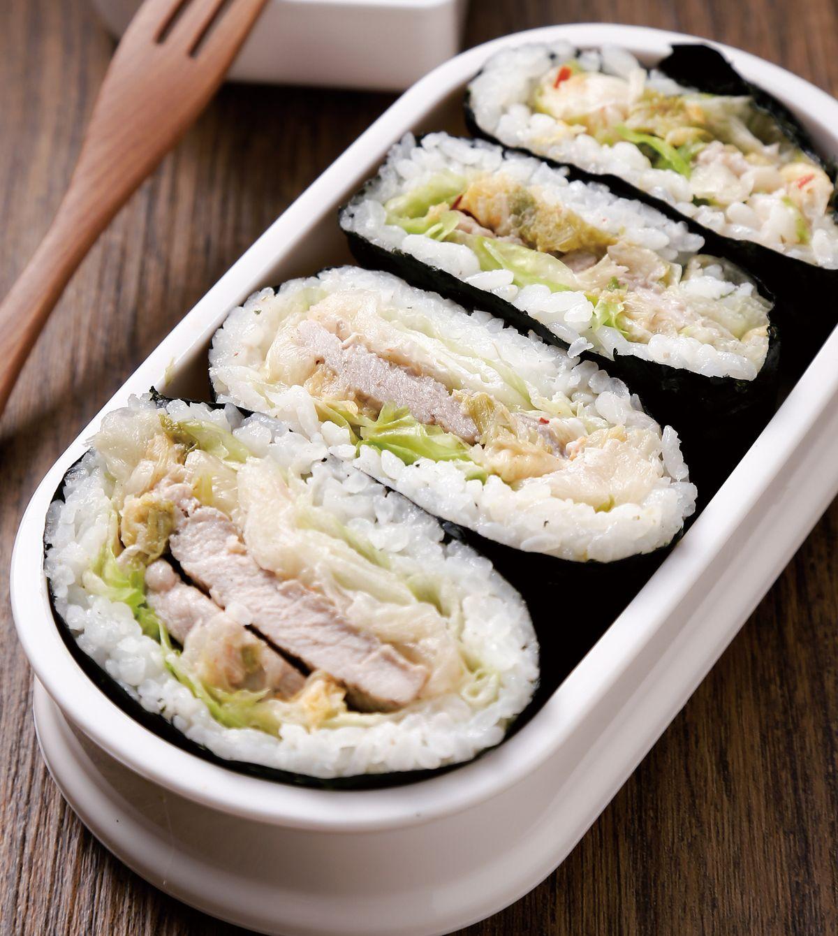 食譜:韓式泡菜海苔飯糰