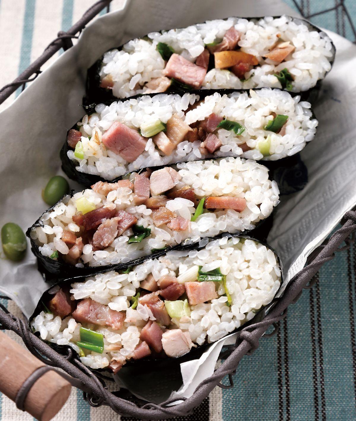 食譜:叉燒炒飯海苔飯糰