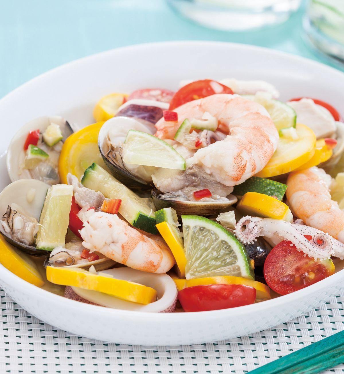 食譜:檸檬涼拌海鮮
