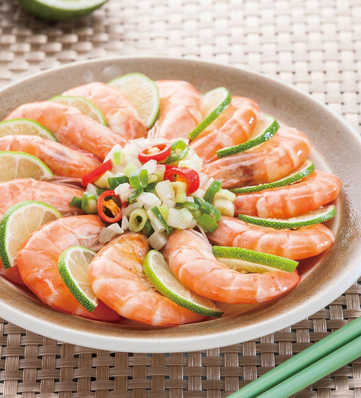 食譜:檸檬蒸蝦(1)