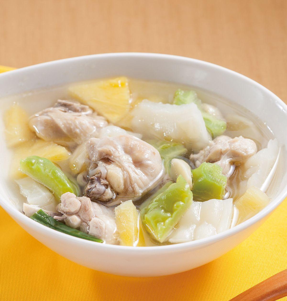食譜:苦瓜鳳梨雞湯