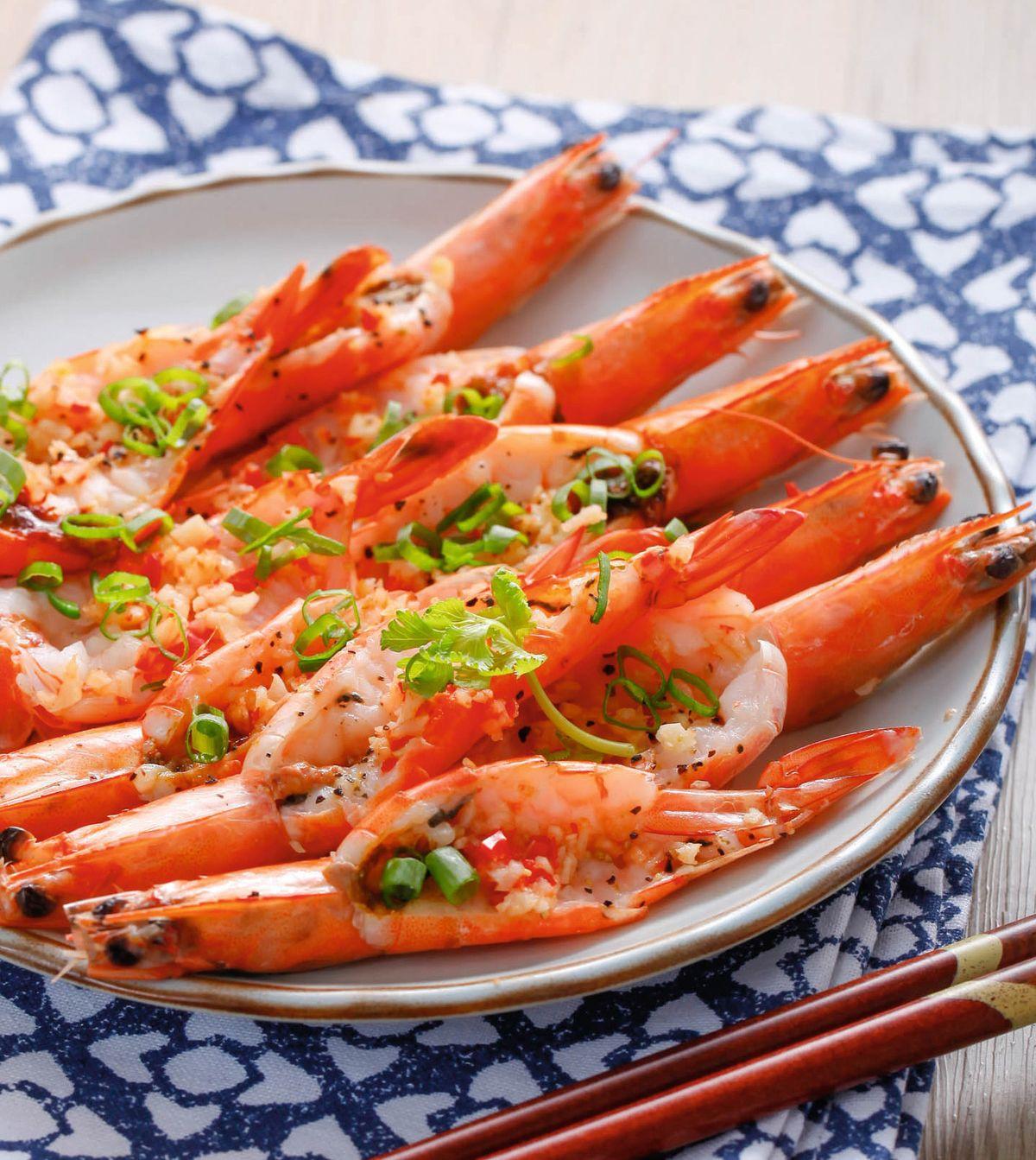 食譜:蒜味清蒸蝦