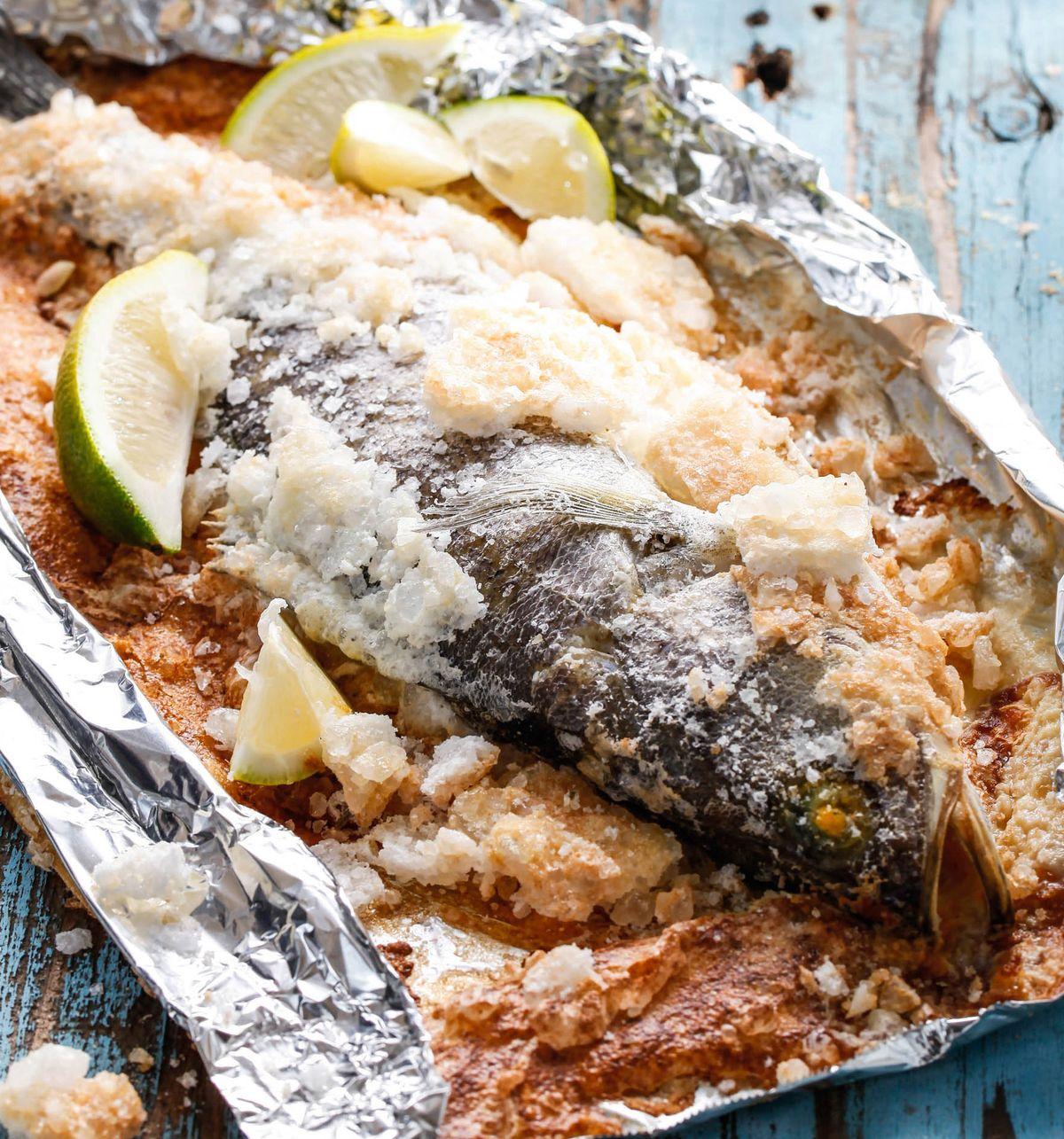 食譜:鹽焗海鱸魚