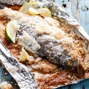 鹽焗海鱸魚