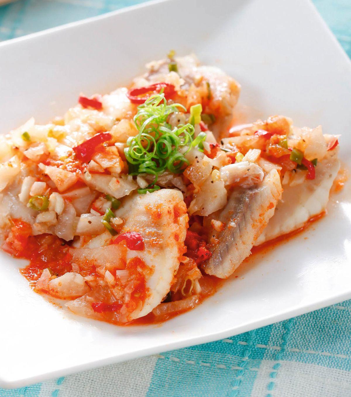 食譜:泡菜蒸魚片